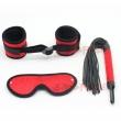 Smspade 3in1 Kit Bondage slave velvet Blindfold Handcuffs Spanking Whip Restraint