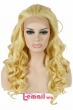 L-email wig Brand High Quality Fashion Women Wigs 22inch Long Color Golden Synthetic