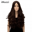 80cm Long Curly Synthetic Wigs High Quality Handmade Resistance Womens Wigs Synthet