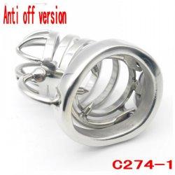 2017 Latest Design Anti off version Steel chastity belt stainless steel penis lock