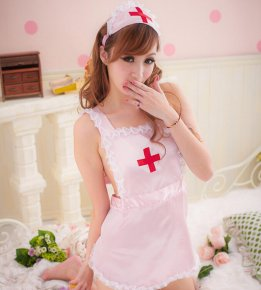 women costumes Pink White Hot COSPLAY temptation to nurse Sexy lingerie Sex Product