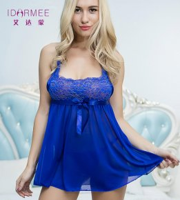IDARMEE Sexy Lingerie Plus Size 5XL 4XL Women New Color Blue Floral Lace Sexy Underw