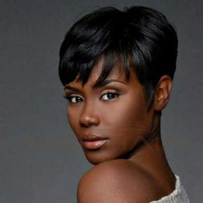 Synthetic Short Wigs for Black Women Pixie Cut Wig Short Black Hair Natural Cheap