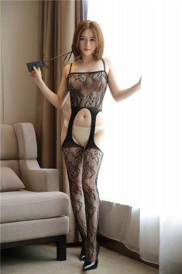 Rose Lace Suspender Bodystocking