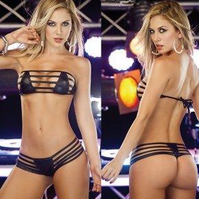 The Nicki Metallic String Bikini Top