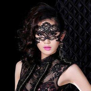 Sexy Black Fancy Dress Lace Venetian Mask Masquerade Ball Prom Halloween Costume