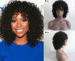 Fashion Natural Black Tight Kinky Curly Short Resistant Synthetic Hair Women Wigs
