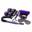 8PCS/Lot Purple Mix Color Pu Leather Bondage Restraints Adult Game Bdsm Sex Set