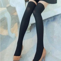 2016 new Spring fashion false high tube silk stockings women stitching slim was