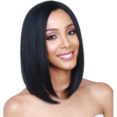 Aurica Fashion Hot Selling Black Resistant Synthetic Hair Women Full Fringe