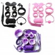 Adult Game 7 PCS/Set PU Leather Handcuffs Whip Collar Erotic Toy for Couple Fetish