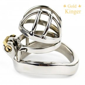 Male Chastity Device Stainless Steel Chastity Belt Lock Super Short Cage CD099