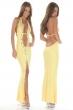 yellow noble women dress
