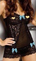 2016 Erotic Lingerie Teddy Sexy Underwear Transparent Black Bud Silk Pajamas Househo