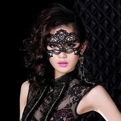 1PCS Hot Sales Black Sexy Lady Lace Mask Eye Mask For Masquerade Party Fancy Dress