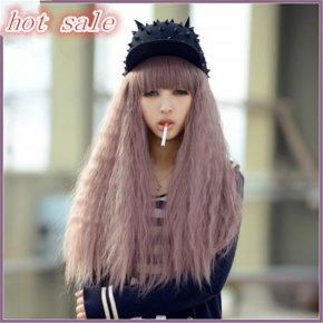Get a hairnet Cheap wigs 70cm long Cosplay wig princess style chiaki purple taro