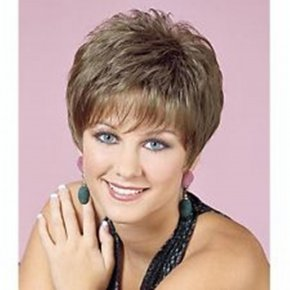 HAIRJOY Resistant Light Ash Blonde Short Straight Fashion Wig Sexy Synthetic
