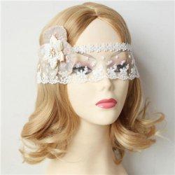 Elegant Bride White Lace Cover Face Fog Half face Veil Mask Fun Venetian masquerade