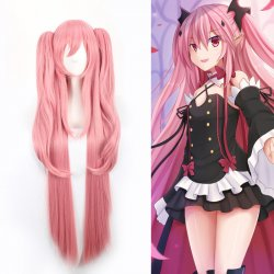 Anime Long Pink Cosplay Wig Owari no Seraph