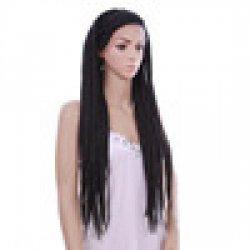 30inch Box Braid wigs Black wig Long Synthetic Natural Cheap Hair African Braiding