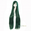 100cm 40 inch Long Dark green straight Cosplay wig costume party women hair wigs