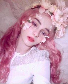 80cm long Magenta My Little Pony Pinkie pie wavy Cosplay wig