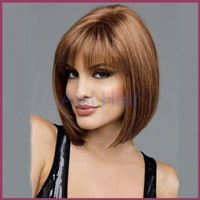 2016 New Available Bob Wig Resistant Synthetic Hair Short Straight Wigs with Full