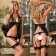 Sexy Lingerie Hot Fashion Lady Lace Transparent Sexy Underwear Set Sexy Costumes