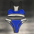 Women Neoprene Swimwear Neopren Bikini set With Mesh Crochet Bikini Neoprene Bikini