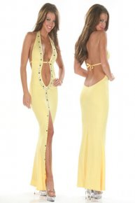 yellow noble women dress