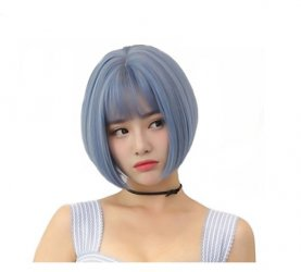 Short High Temperature Fiber Hair Cosplay Wigs Synthetic Hair Heat Resistant BOBO Wig