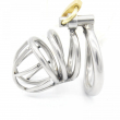 Stainless steel male chastity belt cock cage with arc-shaped penis ring penis cage