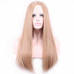 68cm Fashion Sexy Long Natural Straight Central Parting Full Wig Womens Wigs Girl