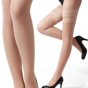 (4Pairs/Lot) Women stockings Sexy tights, Lace Top Sheer Thigh High Silk Stockings