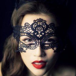 Hot Sales Black Lace Floral/ Animal For Sexy Lady Cutout Mask Masquerade Masks for