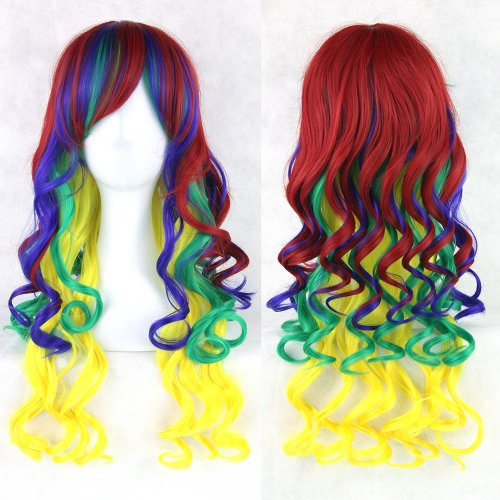 11 Colors Hair Women Hair Ombre Wig Cosplay Wigs Black White Red Synthetic Hair