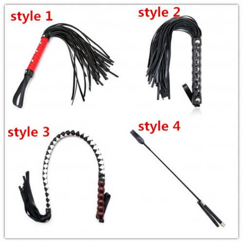 PU Leather Spanking Flogger Whip For Woman Sex Toys , Sexy Paddle Whip Fetish Bondag