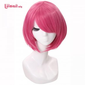 L-email wig 16 Colors Fashion Women Wigs Resistant Synthetic Hair peruca Pink Green