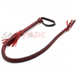 6% off leather bull whip Black and Red geninue leather Fantasy Bull Whip handmade