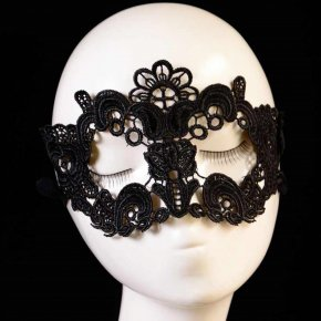 5PC Female Masquerade Mask Lace Flower 2016 Halloween Mask Black Cutout Sexy Mask