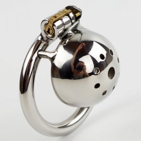 Short Male chastity device belt stainless steel metal penis lock chastity cock ring
