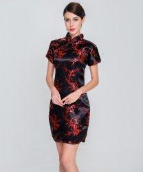 Elegant Slim Plus Size Qipao 2019 New Chinese Female Rayon Dress Mandarin Collar Vintage Cheongsam Vestidos S-3XL 4XL 5XL 6XL