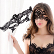 1 pc Women Black Sexy Lace Mask AVATON Party Mysterious Retro Lady Eye Mask For