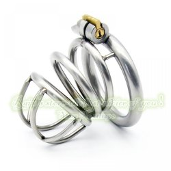 52mm New lock Male Chastity Device Adult Cock Cage Sex Toy 304 Stainless Steel Chast