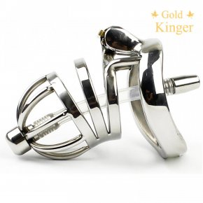 Newest! Stealth Lock Male Stainless Steel Chastity Device,Cock Cage With Catheter