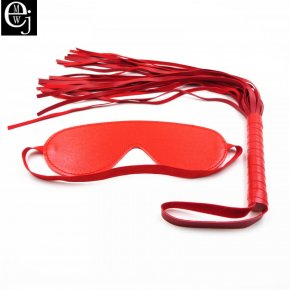 EJMW 2017 Hot Sale Sex Toy Pu Leather Whip Sex Product Adult Sex Mask Sex Toys