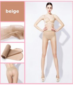 Fashion New Women Silk Stockings Pantyhose Ribbed Over Sexy Slim Tights Absorbent