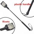 53CM PU Leather Spanking Paddle Riding Crop Sex Whip Slave Flogger Rivets Whip Sex