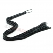 flogger whip Black faux Leather Whip with long tails Sex Toys for Couple sex Game