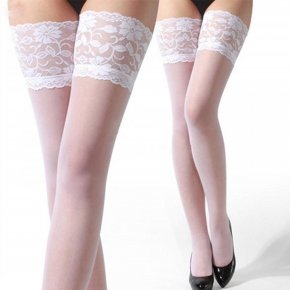 Summer Style Ultrathin Sexy Women Tights Stockings Lace Top Sheer Thighs High Silk
